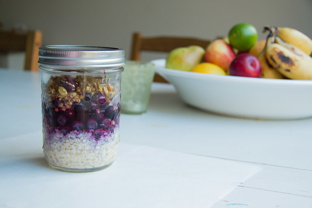 layered oats + granola