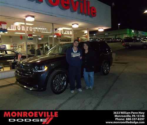 Happy Anniversary to Angela Vergos on your 2013 #Dodge #Durango from Thomas Haskins  and everyone at Monroeville Dodge! #Anniversary by Monroeville Dodge