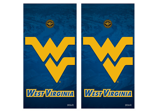 West Virginia Cornhole Game Decal Set