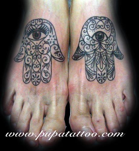 Tatuaje Mano de Fatima, Pupa Tattoo, Granada by Marzia PUPA Tattoo