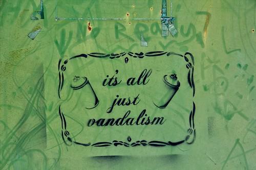 Vandalisme  Art sur Métal