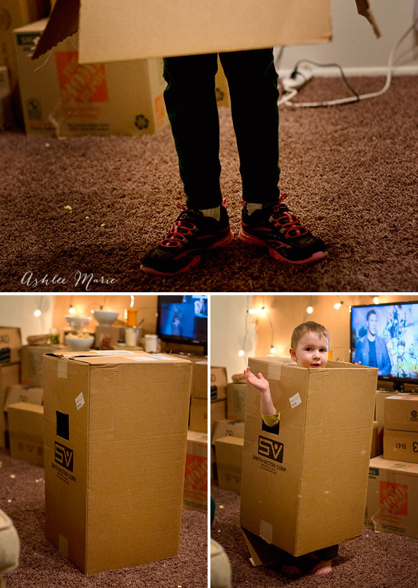 The kids loved The Boxtrolls so much that afterwards they insisted on making their own boxes