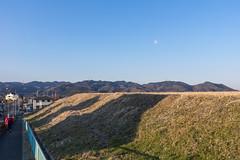 本日歩いた山並を眺めながら家に帰ります