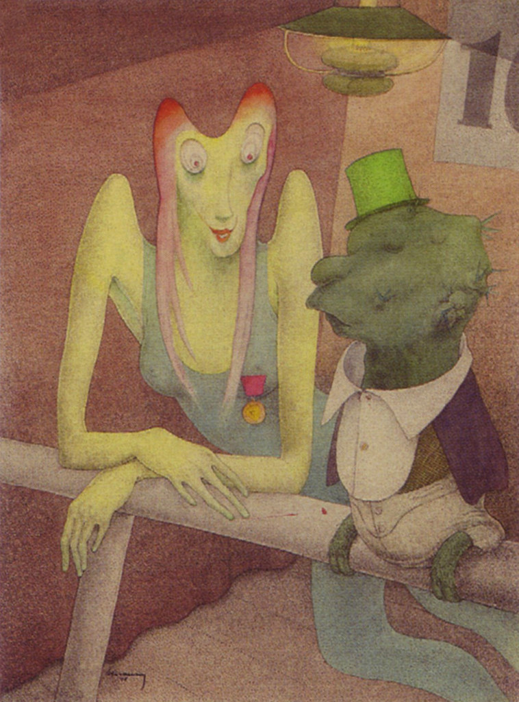 Walter Schnackenberg - A surreal conversation (1948)