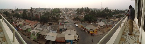 city roof panorama view creative commons foundation photograph ghana moblogging accra ispace wayan