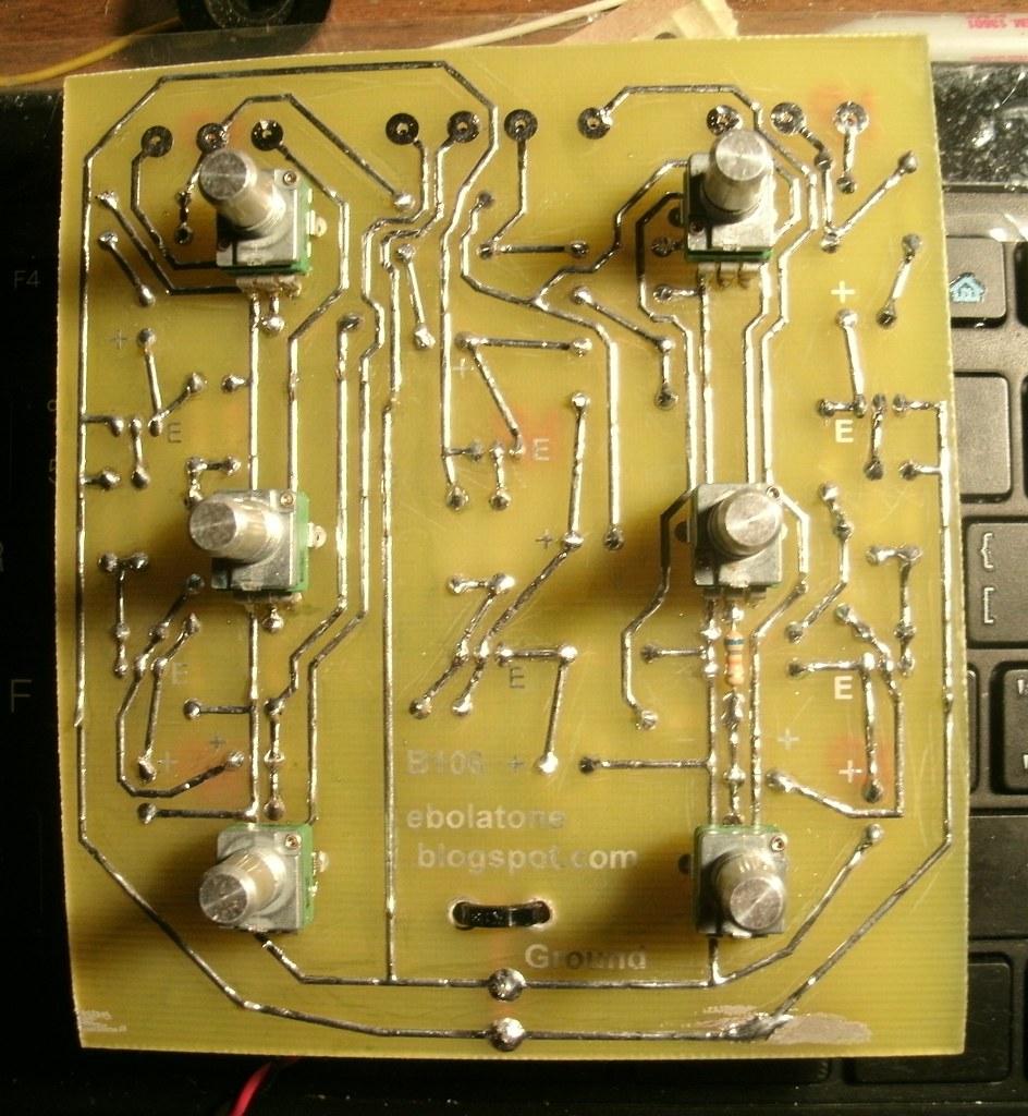 Buchla 106 V2B solder/trace side