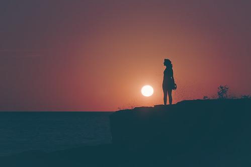 sunset silhouette nicaragua