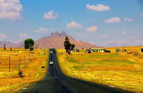 africa house mountain clouds rural landscape nikon highway farm vista lesotho d90 stevelamb