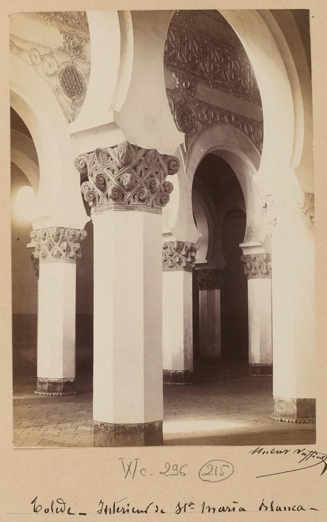 Sinagoga de Santa María la Blanca en 1889. Fotografía de Marie Hubert Vaffier © Bibliothèque Nationale de France
