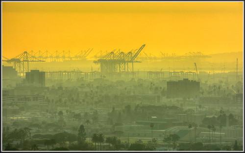 sunset hill cranes longbeach signal hdr portofla