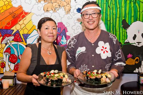Kaori Asakawa, and Chef Takashi Asakawa