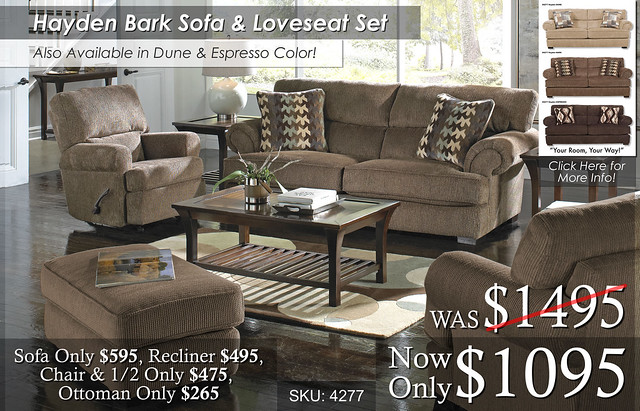 Hayden Bark Living Set