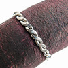 Vintage Silver-Plated Twisted Rope Cuff Bracelet