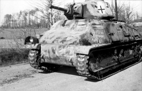 Gefangener französischer Somua S35 Kavalleriepanzer