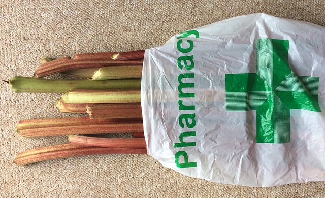 Fresh rhubarb from the 'farmacy'