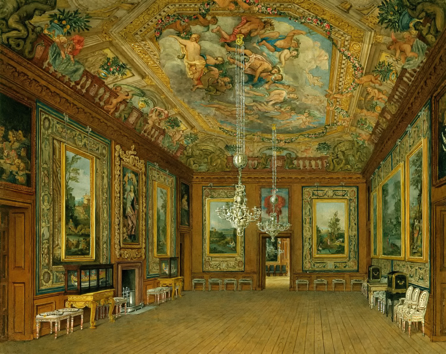 The Queen's Drawing Room, by Charles Wild, 1816