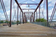 Crossing Hays Street Bridge