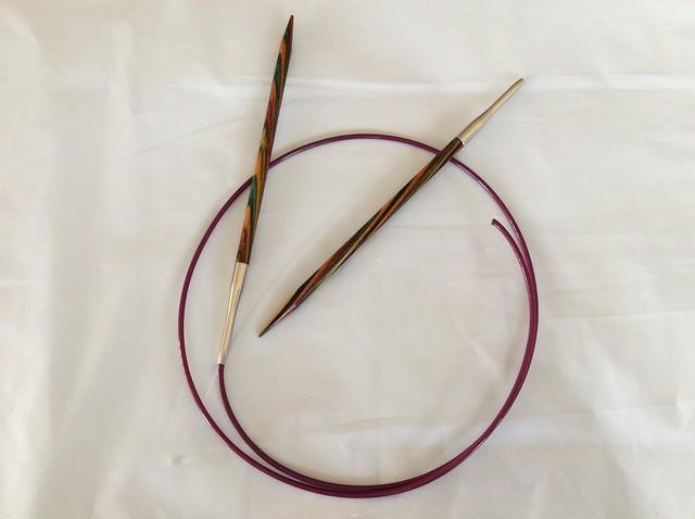 A broken circular needle