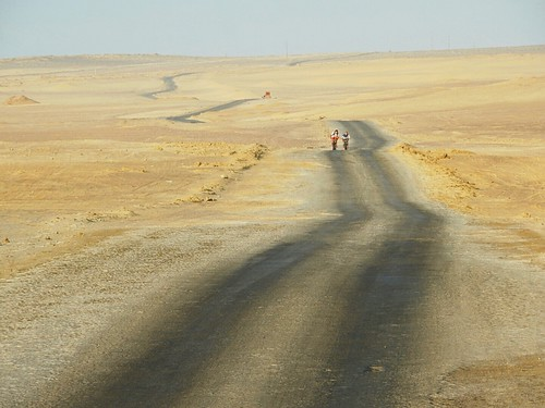 Riding through Paracas desert