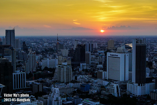 Bangkok Moon Bar - sunset