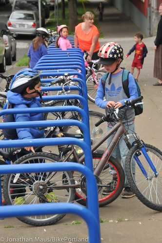 Bike to School Day in NoPo-8