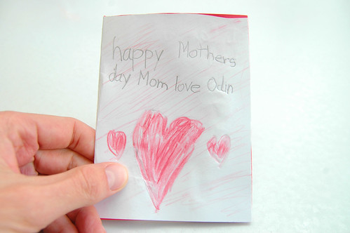 a mother's day card from odin. I.