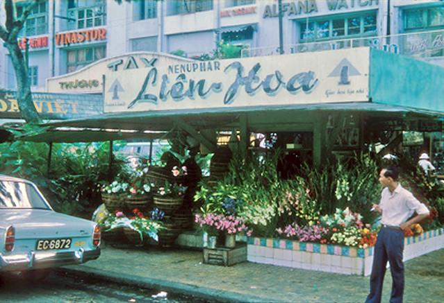 Flower shop, Saigon 1965