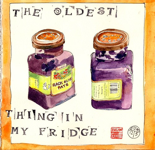 EDiM #12 draw the oldest thing in your fridge