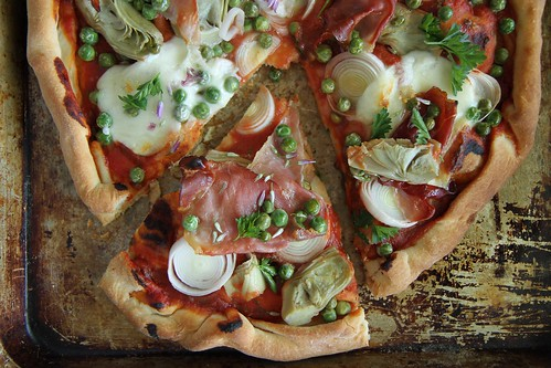 Spring Pizza With Artichokes, Leeks, And Shallots Recipes — Dishmaps