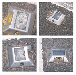 solar road studs, bad design 1