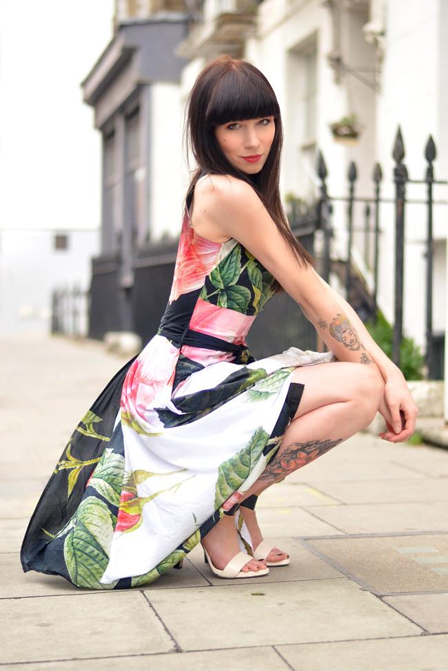 Vivienne Westwood floral dress outfit 6