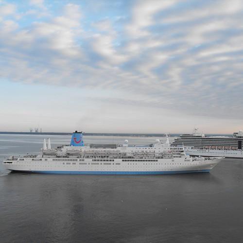 3 rd cruise ship Thompson Spirit arriving St Petersburg by chrisLgodden