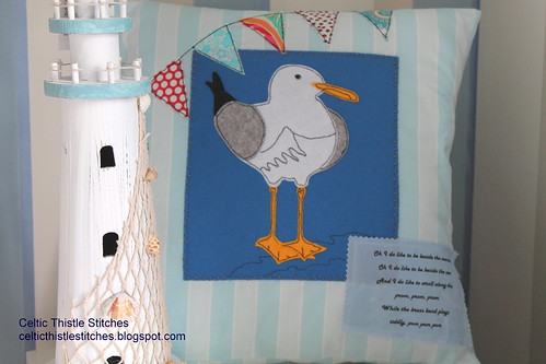 Seagull cushion cover