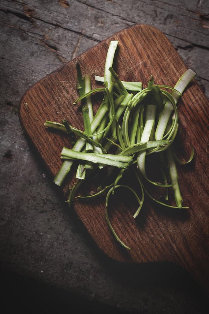 ribboned asparagus