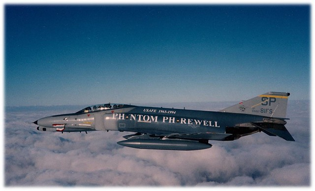 81st Fighter Squadron F-4 Phantom flying over Germany
