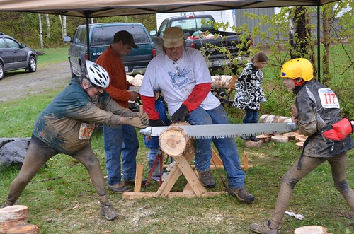East Grand Adventure Race Tow Person Crosscut saw competition -