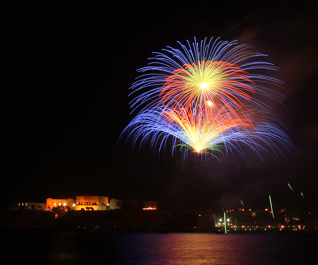 Malta International Fireworks Festival 2013 - Photograph by David Carter