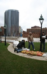 Grand Rapids Flood: Sandbagging the Museum