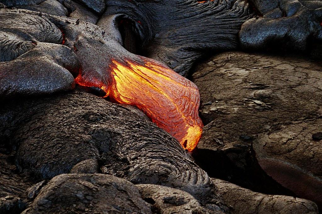Lava flow - volcano