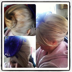 No one can test my badass hairdressing skills #frenchpleat #roll #traditional #hairup #updo #wedding #weddinghair #hairdresser #hairstylist #skill #badasshair #blonde #potd
