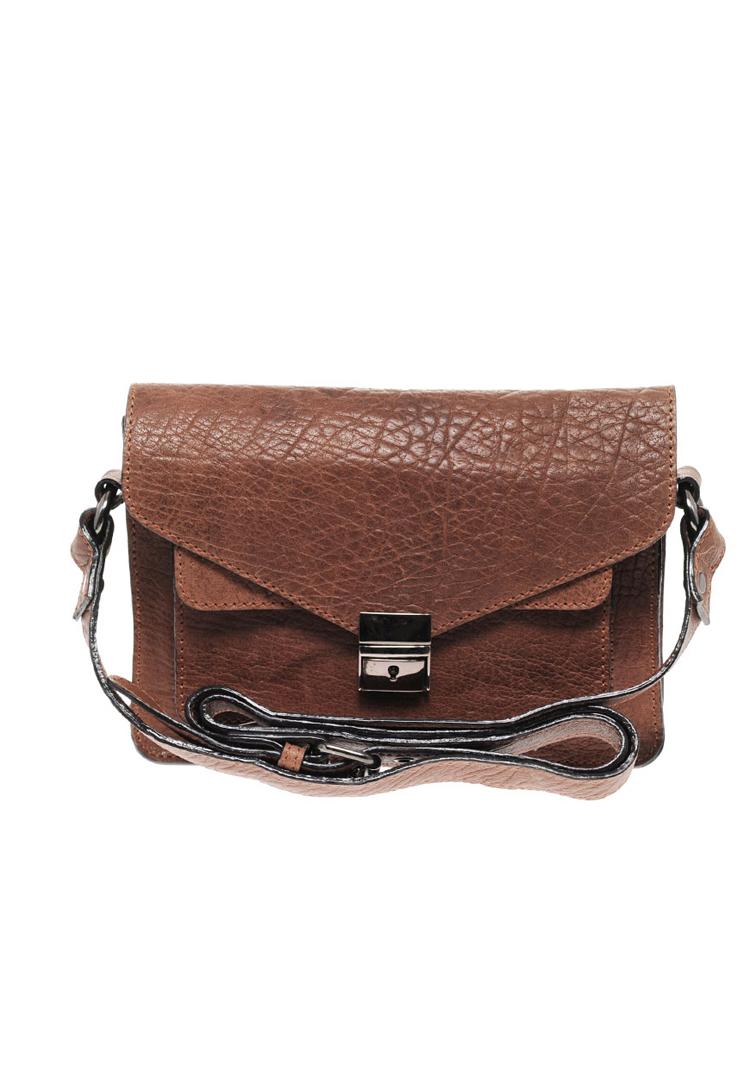 ASOS Envelope Front Leather Satchel