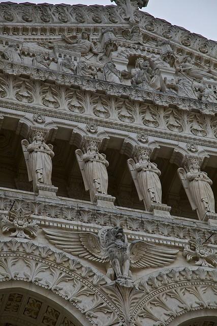 Basilica Notre Dame de Fourviere Detail Façade