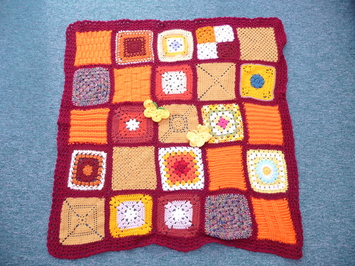 Thanks to everyone for sending in the Squares for this blanket.