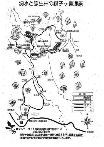 s-湧水と原生林の獅子ヶ鼻湿原
