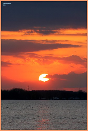 light sunset orange sun lake color nature water wisconsin clouds canon landscape twilight colorful dusk navy silhouettes lakeside waterscape waterscene foxlake canoneos60d picmonkey:app=editor merleearbeen meaimages