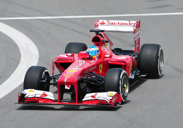 Alonso at the hairpin
