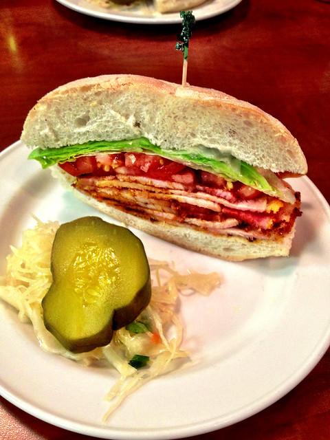 Peameal bacon sandwich at Paddington's Pump