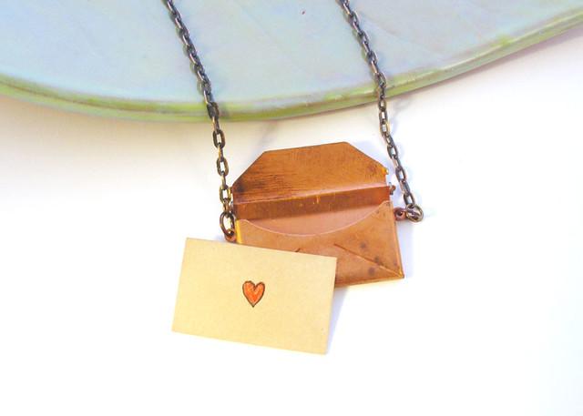 Love Letter Vintage Envelope Locket