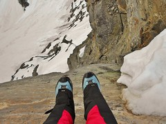 Foot Dangle from Summit of North Arapaho