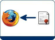 Importar el certificado digital con Mozilla Firefox